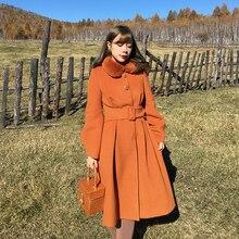 Линетт's chinoiseroy осень зима дизайн женские винтажные тонкие черные шерстяные пальто