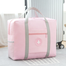Foldable Large Travel Bag Women Waterproof Big Duffel Bags Suitcase Weekend Bag Travel Organizer Overnight Bags Travel Tote Pink
