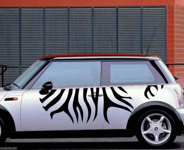 Car Zebra Stripe Animal Sport For Mini Cooper Vinyl Door Decal Side