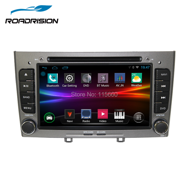 roadrision 2din android 6 0 multimedia car dvd gps navigation for peugeot 408 308 308sw. Black Bedroom Furniture Sets. Home Design Ideas