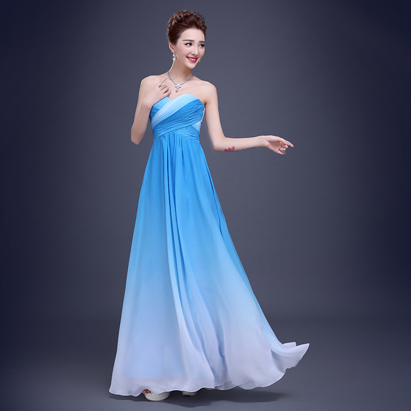 Ombre Turquoise Bridesmaid Dresses Chiffon – fashion dresses