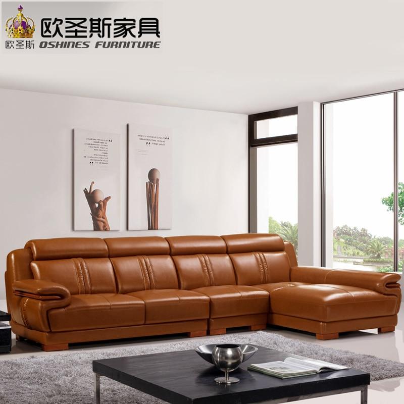 Marrón salón muebles diseños sofá conjunto moderno en forma de L ...