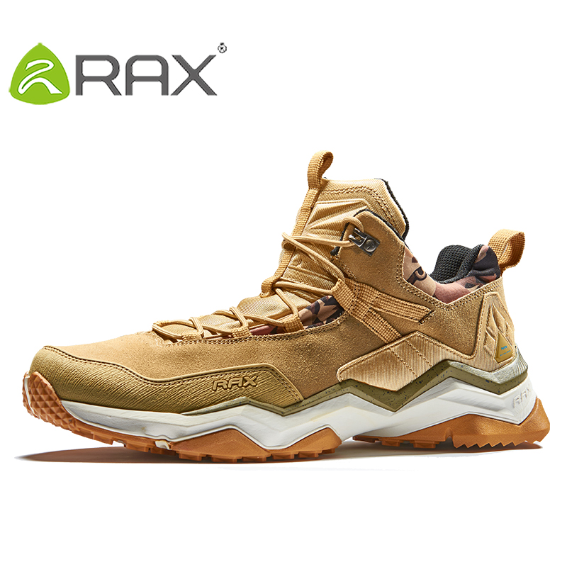RAX Men's Waterproof Hiking Shoes Climbing Backpacking Trekking Mountain Boots for Men Outdoor with Cushiong Insole and Midsole rax men s waterproof hiking shoes outdoor multi terrian mountain climbing backpacking trekking sneakers lightweight with gift