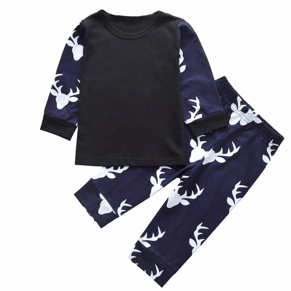 c432898f2f912 New noir cerfs de Noël enfants vêtements ensemble bébé fille ...