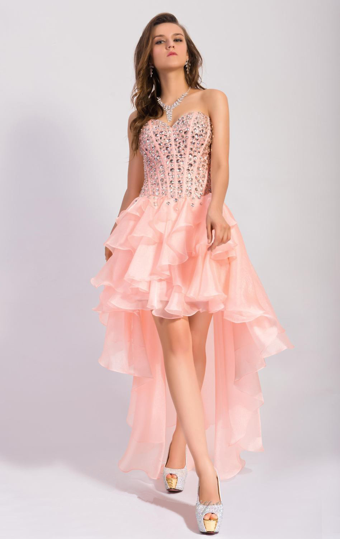 Hot Fashion Crystal Rhinestone Prom Dresses Mint Green Short Front ...