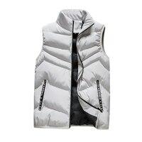 fashion men vest casual clothing korean designer light down jacket male winter warm slim canada brand autumn vests coat for men
