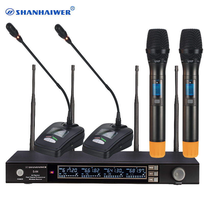 china manufacturer 4 channels uhf wireless microphone for teachers lecture handheld and. Black Bedroom Furniture Sets. Home Design Ideas