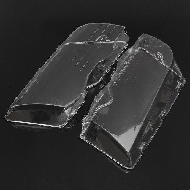 1 Par de Carro Transparente Habitação Shell Tampa Da Lente Do Farol Conjunto Da Lâmpada Para BMW E46 3-Series/4DR/Wagon/Sedan 1999-2001
