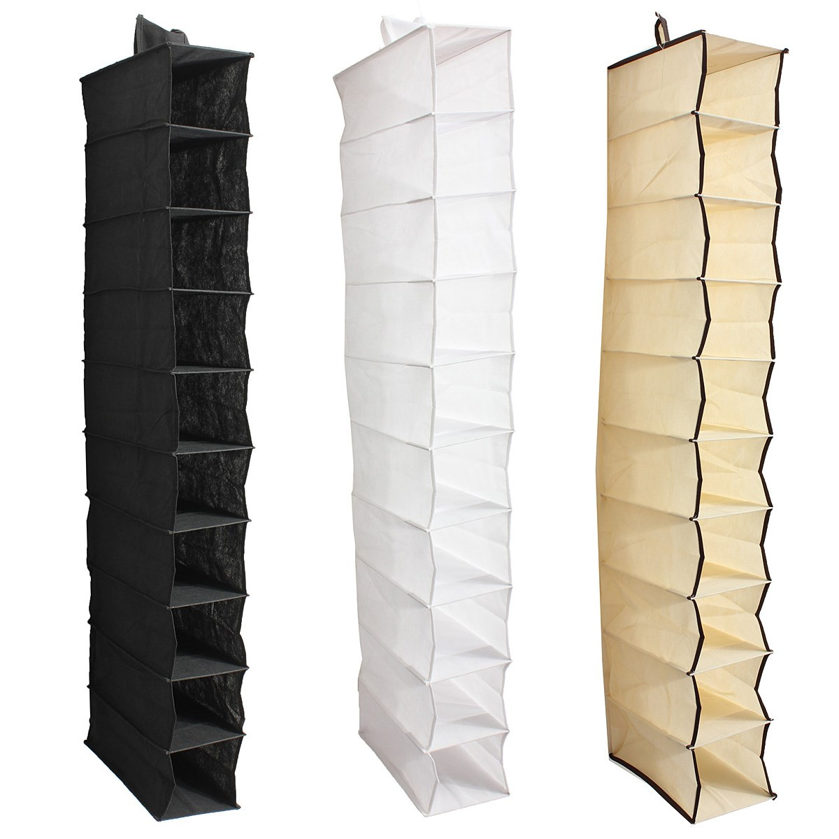 Shoes Garment Organiser Rack Storage Hanging Bag Stand Clothes Holder  Wardrobe Door Behind Household 10 Section In Storage Bags From Home U0026  Garden On ...