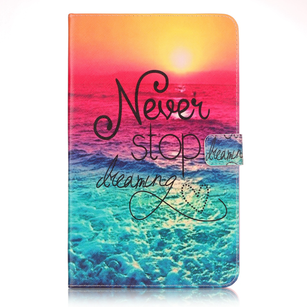 Fashion Black Eye Painting Book Case Cover For Samsung Galaxy Tab A A6 10.1 2016 T585 T580 T580N funda Table Cases
