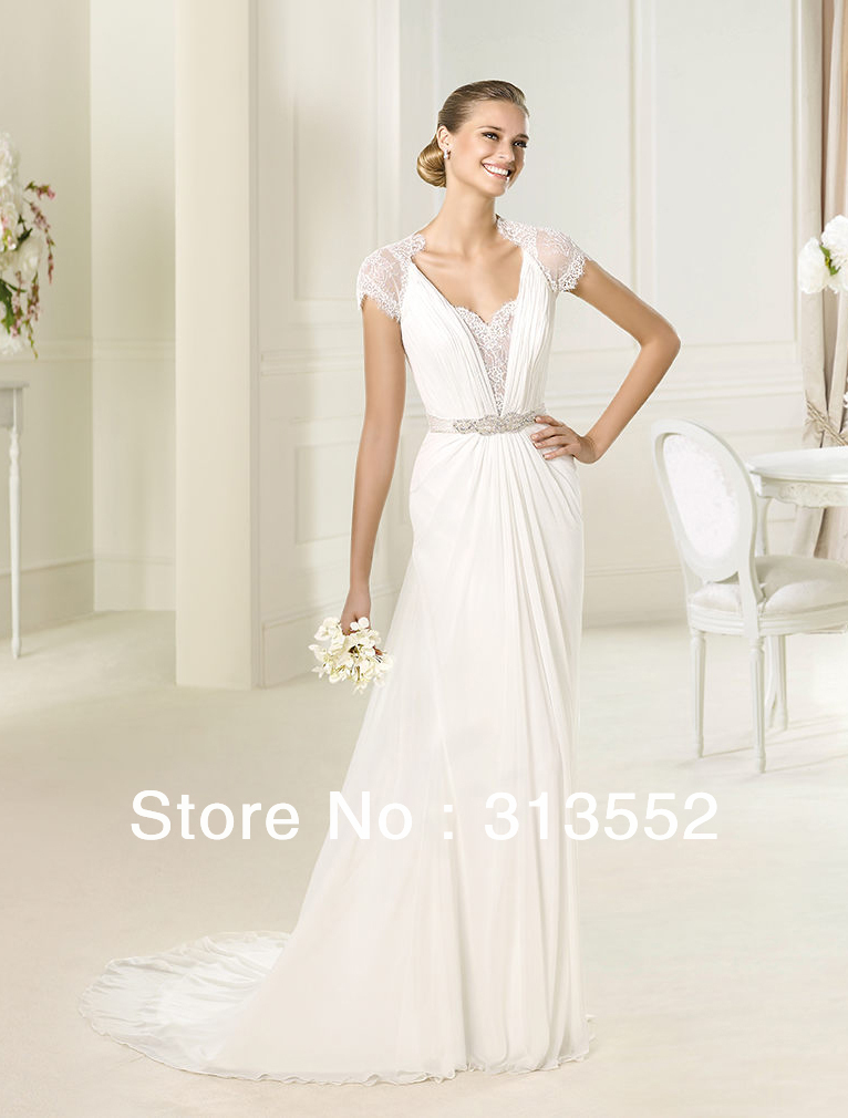 Wedding Dress 2013 Grecian Style Wedding Dress Short