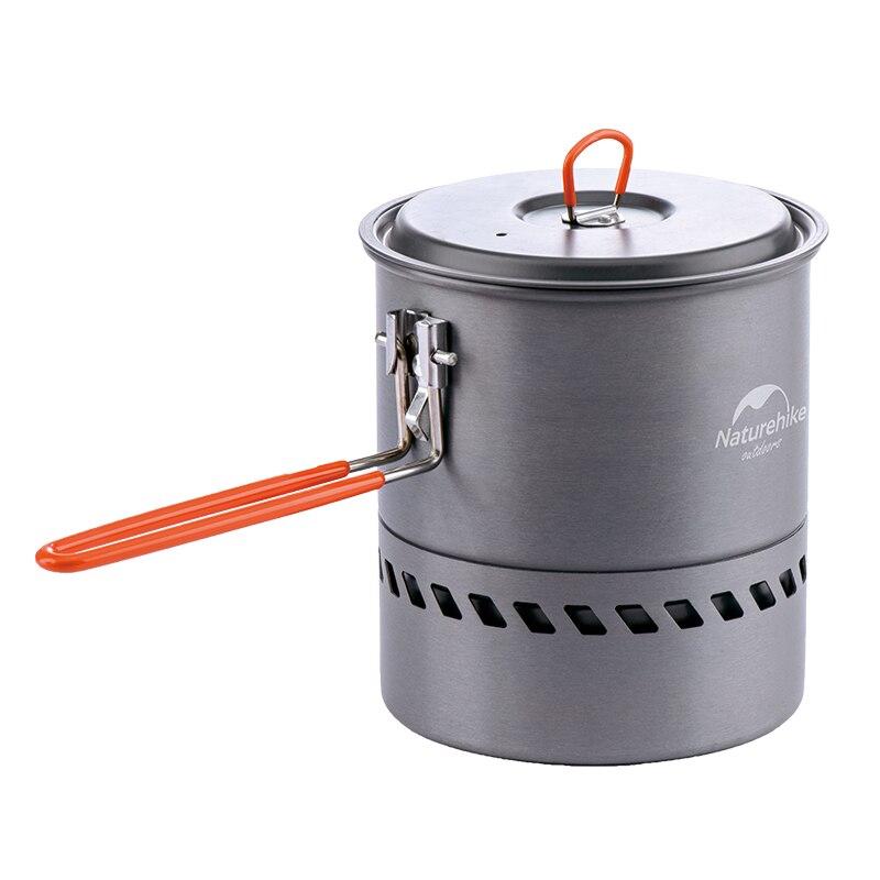 Naturehike outdoor camping picnic tableware backpacking pot heat exchanger pan lightweight cookware aluminum alloy cooking set
