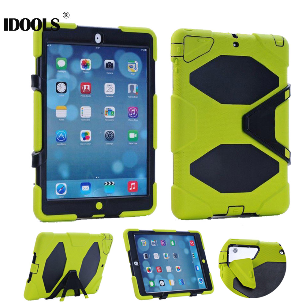 3 in 1 Hybrid Plastic+Silicon Heavy Duty Shockproof Dual Layer Rugged Military Armor Back Cover Case For iPad Air 1 ipad 5 Coque tire style tough rugged dual layer hybrid hard kickstand duty armor case for samsung galaxy tab a 10 1 2016 t580 tablet cover