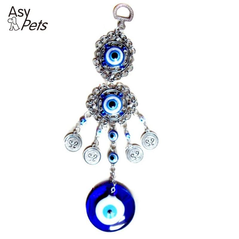 AsyPets Blue Evil Eye Amulet Protection Turkish Wall