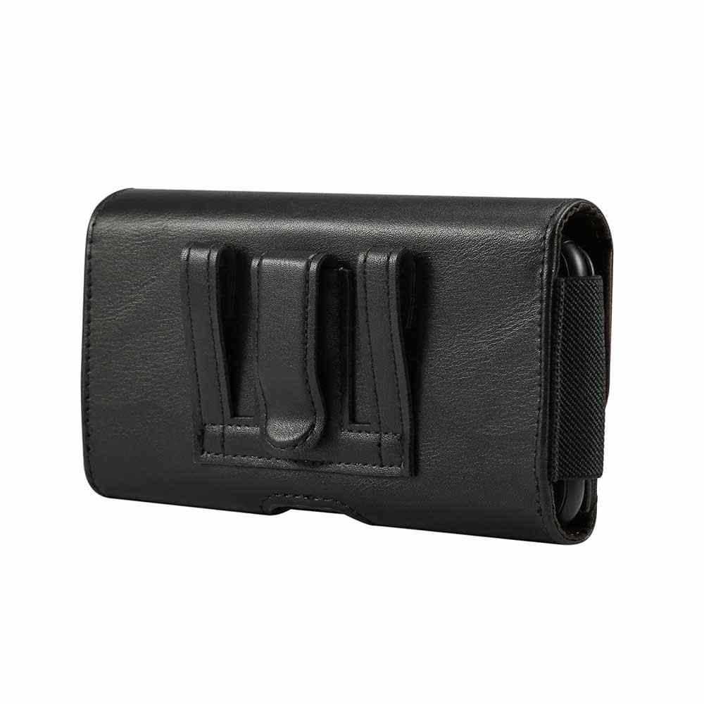 new product c6c1e 94e88 Universal Cell Phone Holster Case for iPhone Samsung Premium Leather Pouch  Case with Belt Clip and Loop Built-in ID Card Holder