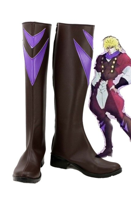 JOJO'S BIZARRE ADVENTURE Dio Brando Cosplay Shoes Brown Boots Custom Made