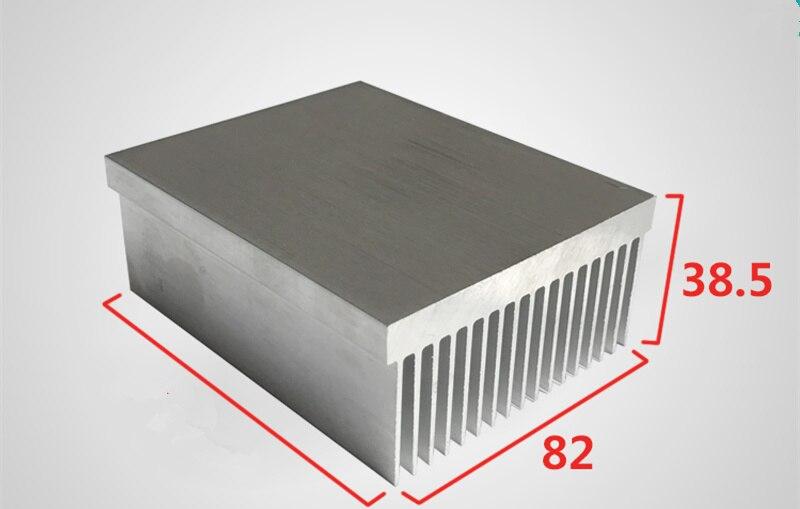 Aluminum heat sink with dense teeth aluminum profile high power aluminum radiator width 82,high 38.5 length can be customized