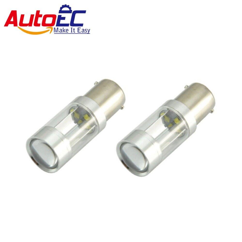AutoEC 2x 1156 30w high power 6smd 1156 1157 BA15S 30w led lamp bulb brake light turn signal light #LF49
