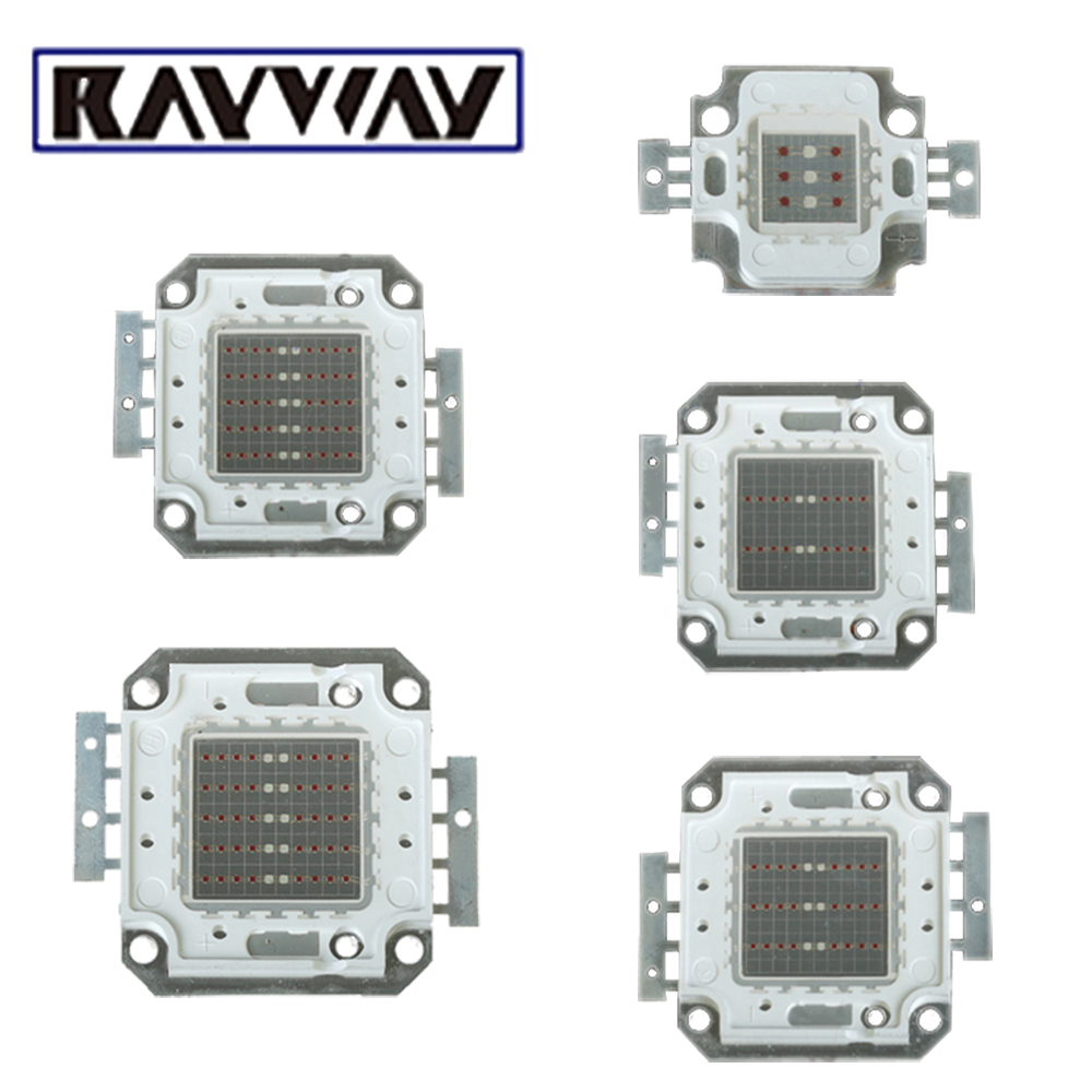 RAYWAY <font><b>LED</b></font> Grow Light Chip Plants Growth Light Source Red 660nm Blue <font><b>460nm</b></font> DIY Growing Light Bulb COB Chip 10W/20W/30W/50W image