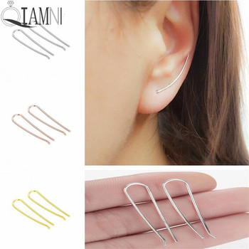 QIAMNI Trendy Copper Line Bar Ear Climber Earring Women Punk Ear Crawler Wrap Earring Party Gift.jpg 350x350 - QIAMNI Trendy Copper Line Bar Ear Climber Earring Women Punk Ear Crawler Wrap Earring Party Gift Fantaisie Brincos Pendientes