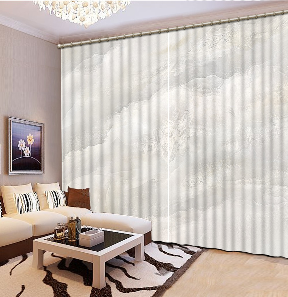 Us 60 28 56 Off 3d Curtain Modern Living Room Curtains Gray Stone Pattern Home Curtains Decoration Bedroom Blackout Curtain White In Curtains From