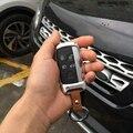 Золото/Серебро/Розовое Золото Алюминиевого Сплава Ключа Автомобиля Дело Shell Обложка Бампер С Кожаный Брелок Для Land Range Rover
