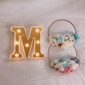 Image 2 - INS Gold 26 Английский алфавит Marquee светильник, Свадебный светильник, светильник с именем и буквой s, светодиодный Ночной светильник, украшение для бара