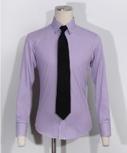 Free delivery Customized European dimension Males's Lengthy sleeve Purple triped Unfold collar Formal Shirts QR-1510