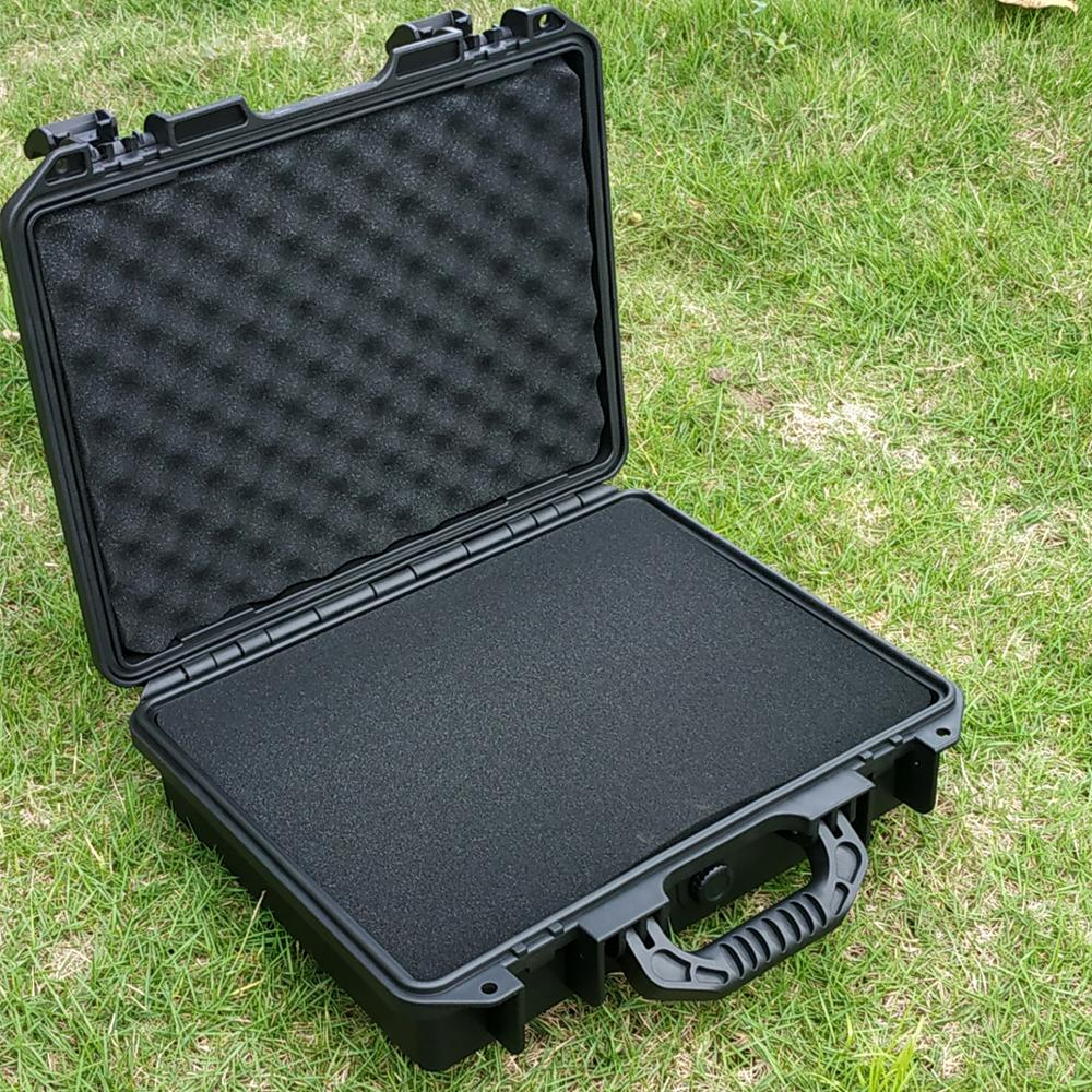 330x250x90mm Multifunctional Tool Box Waterproof Safety Box Equipment Box Instrument Case With Pre-cut Sponge