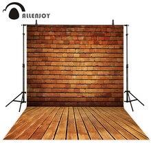Allenjoy fotografia fundo da parede de tijolos do vintage piso madeira profissional photo studio tema background câmera fotografica