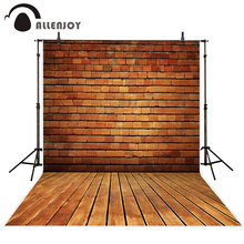 Allenjoy photography background vintage brick wall wood floor  professional photo studio theme backdrop camera fotografica