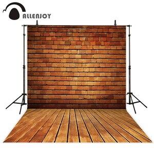 Image 1 - Allenjoy photography background vintage brick wall wood floor  professional photo studio theme backdrop camera fotografica