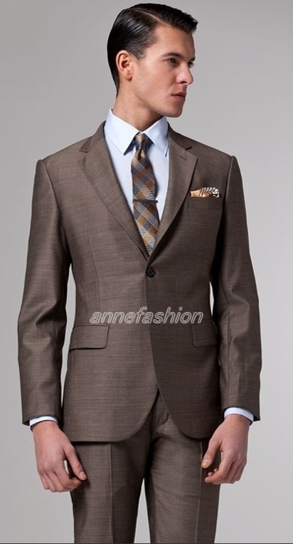 Popular Brown Business Suit-Buy Cheap Brown Business Suit lots ...