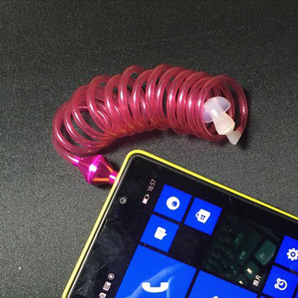 Vacuum Tube Can Control The Phone set Earphone Unilateral Spring Wire Design Of Single Ear Spiral Tube