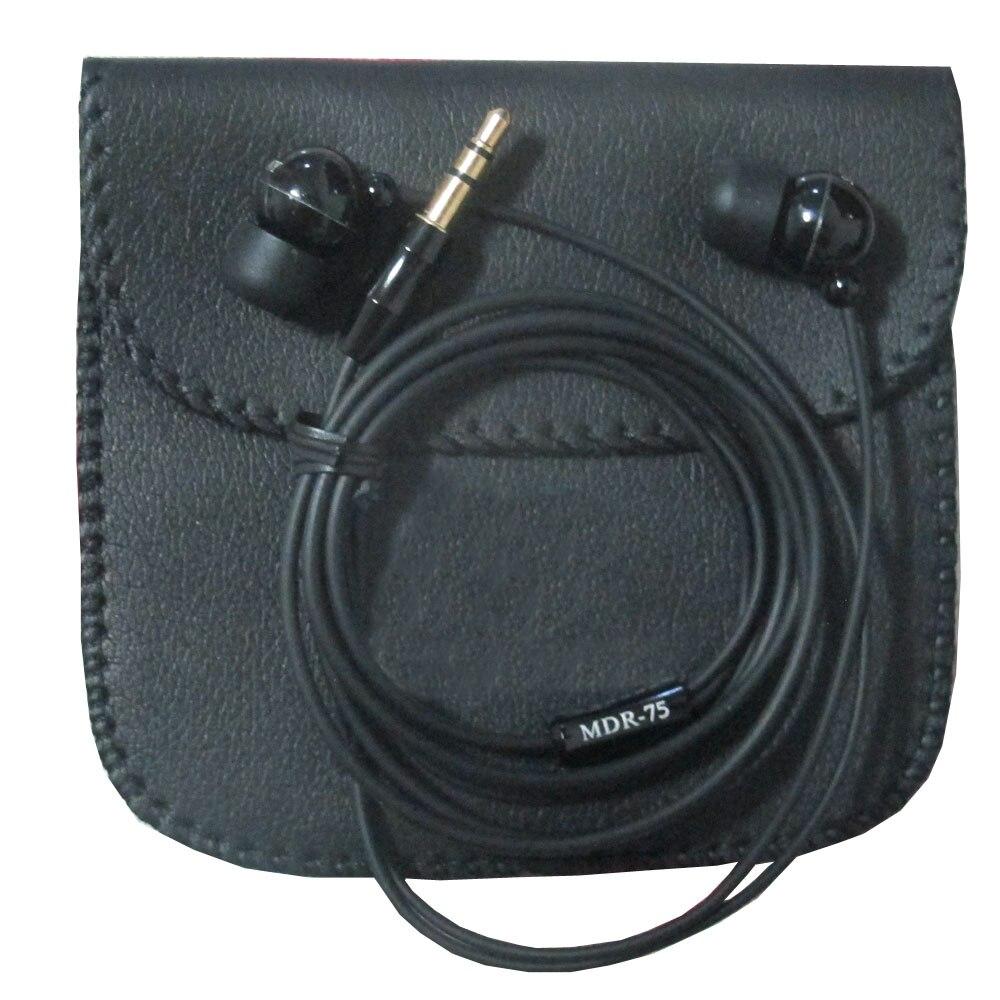 Metal body in-ear R-75 super bass earphone  noise canceling black 3.5mm earphone for sony z5 xz Z3 E6683 E6653 Z4 L36H wireless bluetooth 4 0 sport headphone in ear earphones super bass music earbud for iphone sony z2 z3 sumsang s6 noise canceling