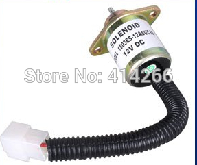 Fuel Shut Off Shutdown Solenoid for 05 Series Tractor 17454-60010 17454-6001-0 fuel shutdown solenoid 3921978 3918600 tjg130805 shut off solenoid for cummins 6ct 6cta 12v