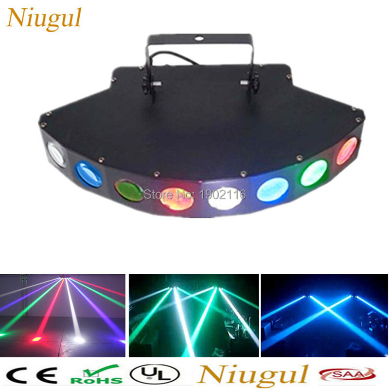 Niugul Scanner Eight Eyes LED RGBW Beam DMX512 Stage Effect Light/Eight-eyes Quad Beam bar disco home party light Fast Shipping new stage lights led full color spider lamp eight eyes beam of light the effect of light bar eight head lamp light beam dj