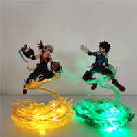 Мой герой academic светодиодный ночник Bakugou Katsuki VS Midoriya Izuku фигурка для спальни Lampara Boku no Hero academic настольная лампа MY1