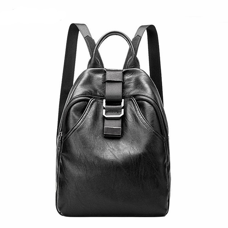 Genuine Leather Backpack Large Capacity Student School Bag For Teenager Girls Women Female Travel Shoulder Bags women s backpacks genuine leather female backpack women school bag for girls large capacity shoulder travel mochila