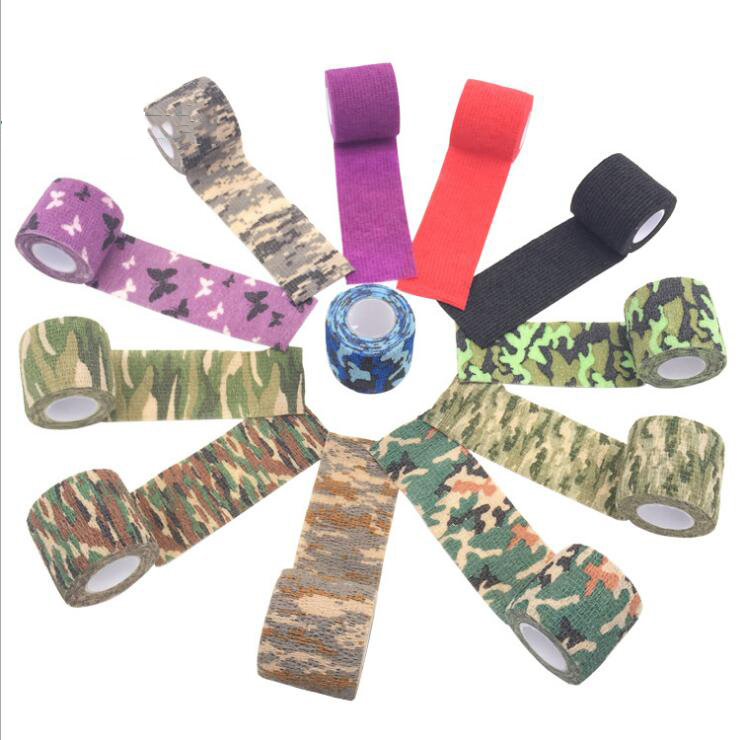Camouflage Outdoor Stretch Tape Self-adhesive Telescopic Type Non-woven Cloth Hunting Hunting Lane Riding Camouflage Tape
