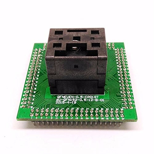 QFN64 MLF64 Burn in Socket IC Test Socket IC550-0644-006-G Pitch 0.5mm Chip Size 9*9 Flash Adapter Clamshell Programming Socket fshh qfn32 to dip32 programmer adapter wson32 udfn32 mlf32 ic test socket size 3 2mmx13 2mm pin pitch 1 27mm