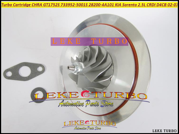 Turbo Cartridge CHRA Core GT1752S 733952 733952-5001S 733952-0001 28200-4A101 28201-4A101 For KIA Sorento 2002-07 D4CB 2.5L CRDI bv43 5303 970 0144 53039880122 chra turbine cartridge 282004a470 original turbocharger rotor for kia sorento 2 5 crdi d4cb 170hp