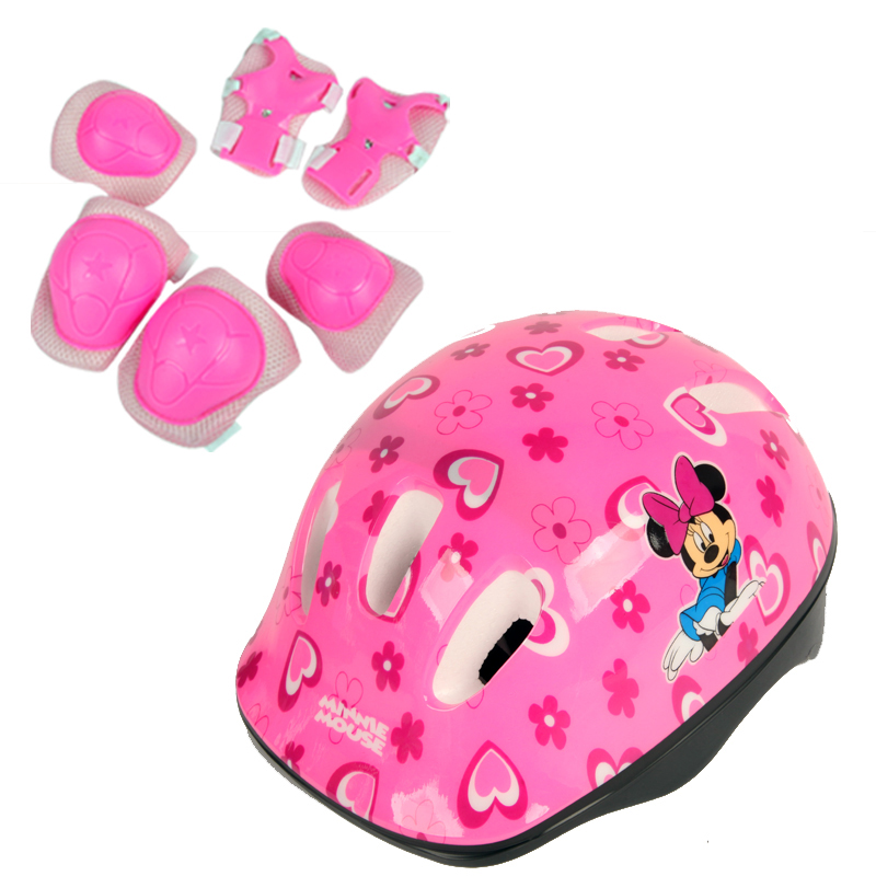 ФОТО Male and female children skating skating roller skating shoes protective suit helmet knee 7 piece skateboard bicycle