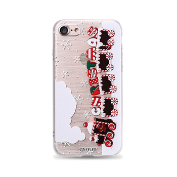 Winter Phone Case For iPhone 6 6s Lovely Emboss Soft TPU Cover