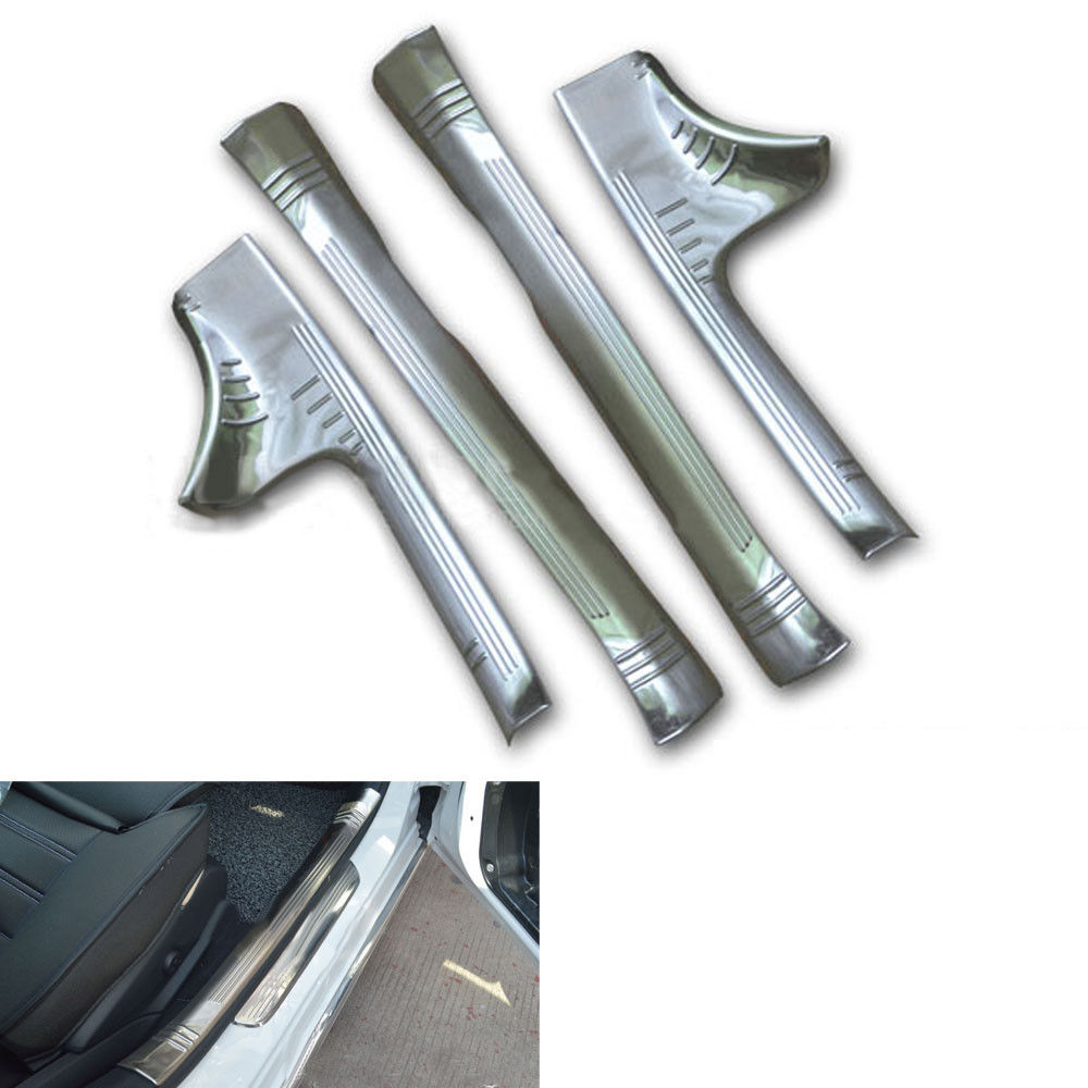 4pcs/set Stainless Steel Door Step Sill Scuff Plate Cover Guards For Benz C Class W205 C180L/C200L/C260L 2015-2016 Car Styling