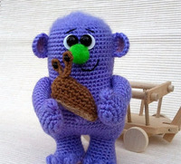 crochet toys amigurumi rattles doll monster model number SBY0055