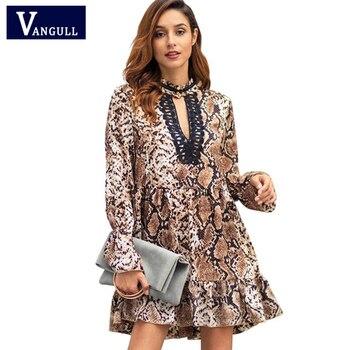 33997eadb1 Vangull nuevo estilo de primavera y verano de las mujeres de la moda ropa  de estampado