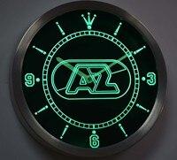 nc1013 AZ Alkmaar Zaanstreek Eredivisie Neon Sign LED Wall Clock