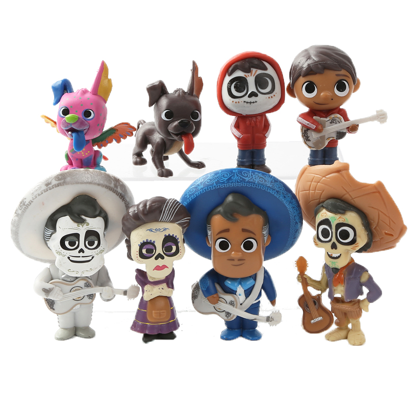 Full Set Movie Coco Action Figures ~ Pixar Miguel Riveras Characters Ernesto de <font><b>la</b></font> Cruz ~ Collection Model Toy <font><b>Doll</b></font> For Kid Gifs image