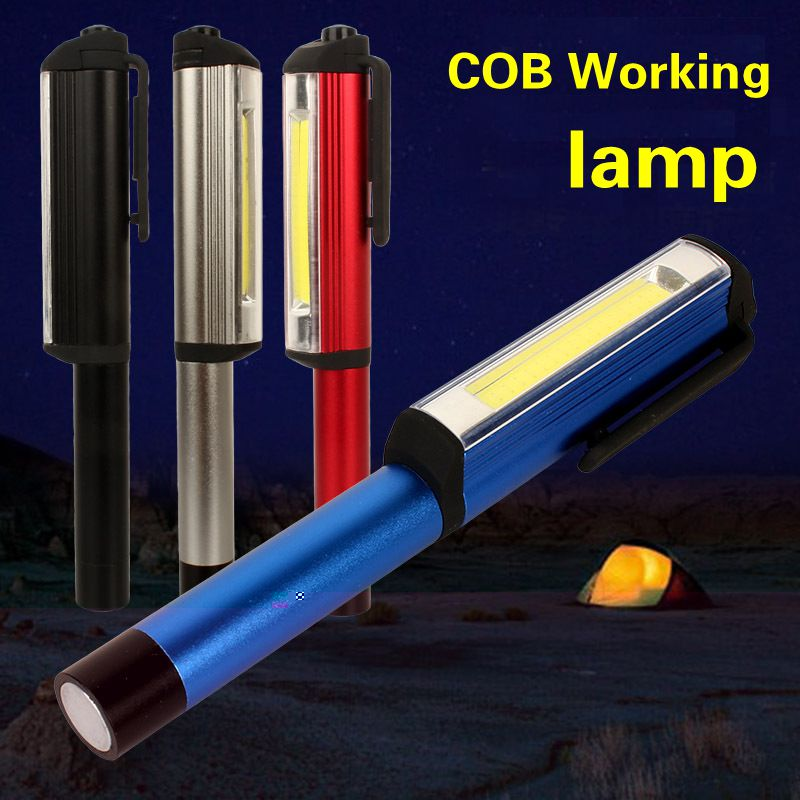 5 pcs Portable COB mini emergency lamp with magnet led flashlight Lantern Camping working Light for camping new cob led emergency led work light mini portable flashlight lamp torch with magnet rubber case built in battery for camping